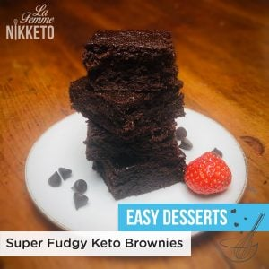 Super Fudgy Gluten Free Keto Paleo Brownies