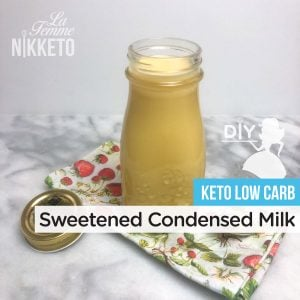 Keto Sugar-Free Sweetened Condensed Milk